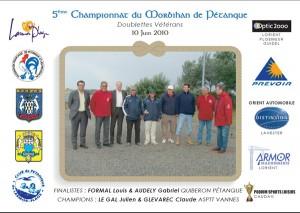 Les finalistes du championnat doublette vétéran 2010
