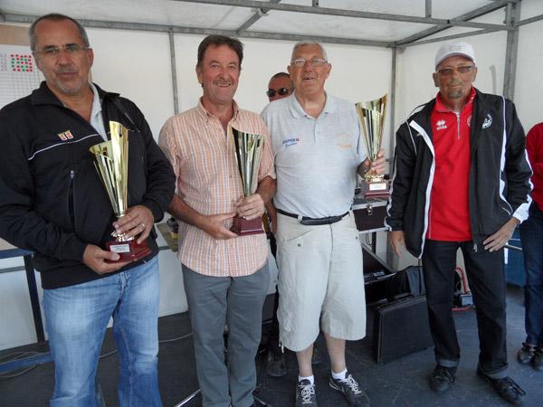 Les vainqueurs du rassemblement de pétanque de Larmor-Plage 2012